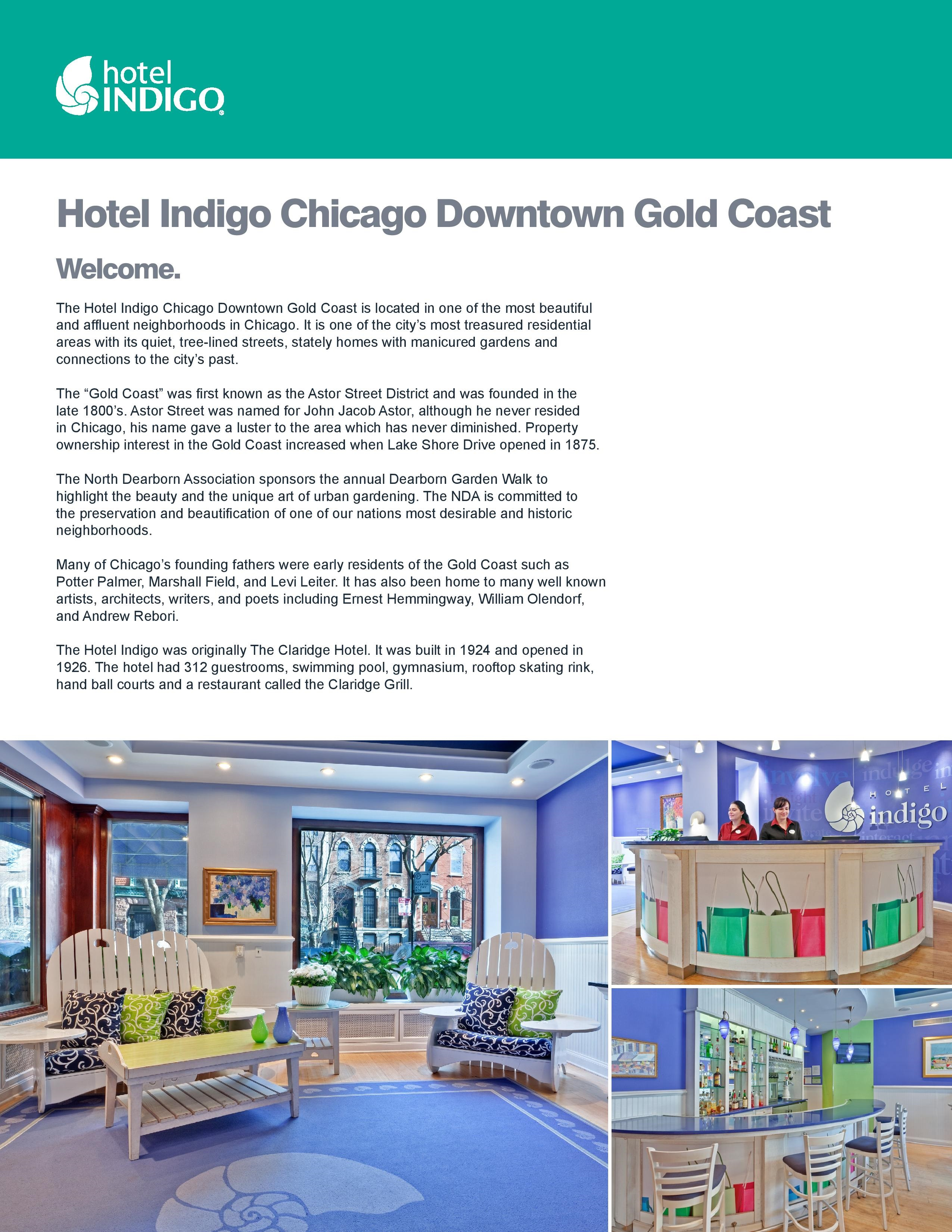 Hotel indigo chicago downtown gold coast out about for Boutique hotels gold coast chicago