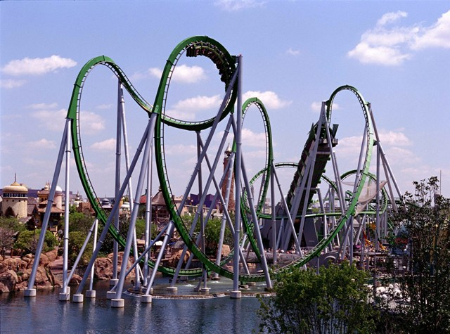 Incredible Hulk Coaster LR
