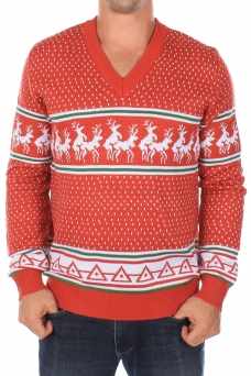 humping_reindeer_v_neck_sweater