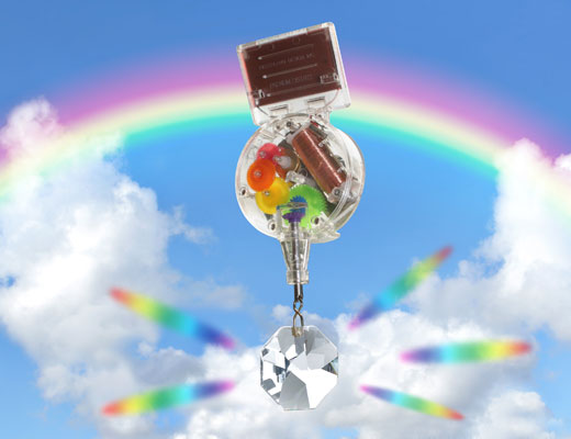 Solar Powered RainbowMaker With Swarovski Crystal