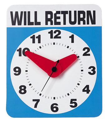 Wall Clock + Will Return