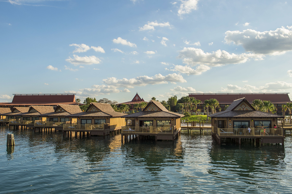Reminiscent of the South Pacific, the Bora Bora Bungalows at Disney's PolynesianÊVillas & BungalowsÊshowcase aÊmodernÊtropical style, sleep up to eight guests in a two-bedroom, home-like setting and feature a plunge pool onÊa private deckÊwhere guests can enjoy views ofÊfireworks over Magic Kingdom.ÊThe Bungalows also have two full bathrooms, a kitchen, washer and dryer, andÊdining and living room spaces for gatherings.ÊTheÊnewestÊDisney Vacation Club Resort,ÊDisneyÕs Polynesian Villas & Bungalows features 20 Bungalows on Seven Seas Lagoon,Êthe first of this type of accommodation for Disney,Êand when complete this summer, 360 Deluxe Studios at the Walt Disney World Resort in Lake Buena Vista, Fla. The expansion is part of an overall re-imagination of Disney's Polynesian Village Resort. (Matt Stroshane, photographer)
