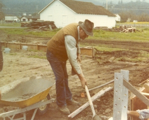 Lou-Behler-pouring-foundation-for-winery